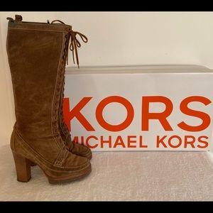 Michael Kors Tan Suede Tall Boots